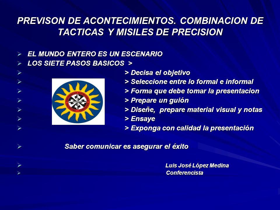 PREVISON DE ACONTECIMIENTOS