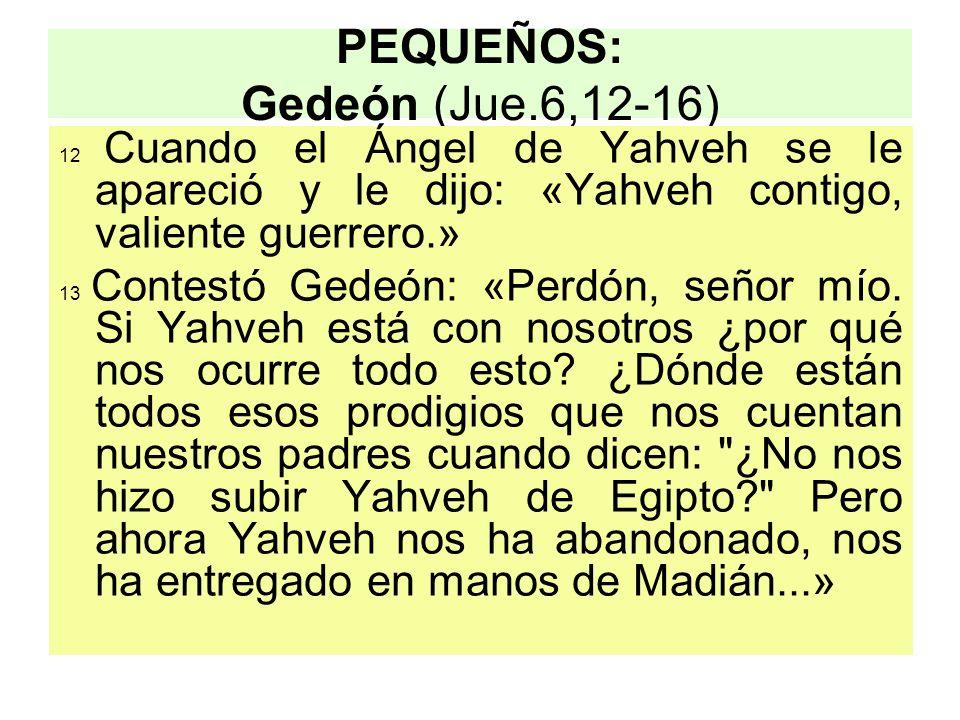 PEQUEÑOS: Gedeón (Jue.6,12-16)