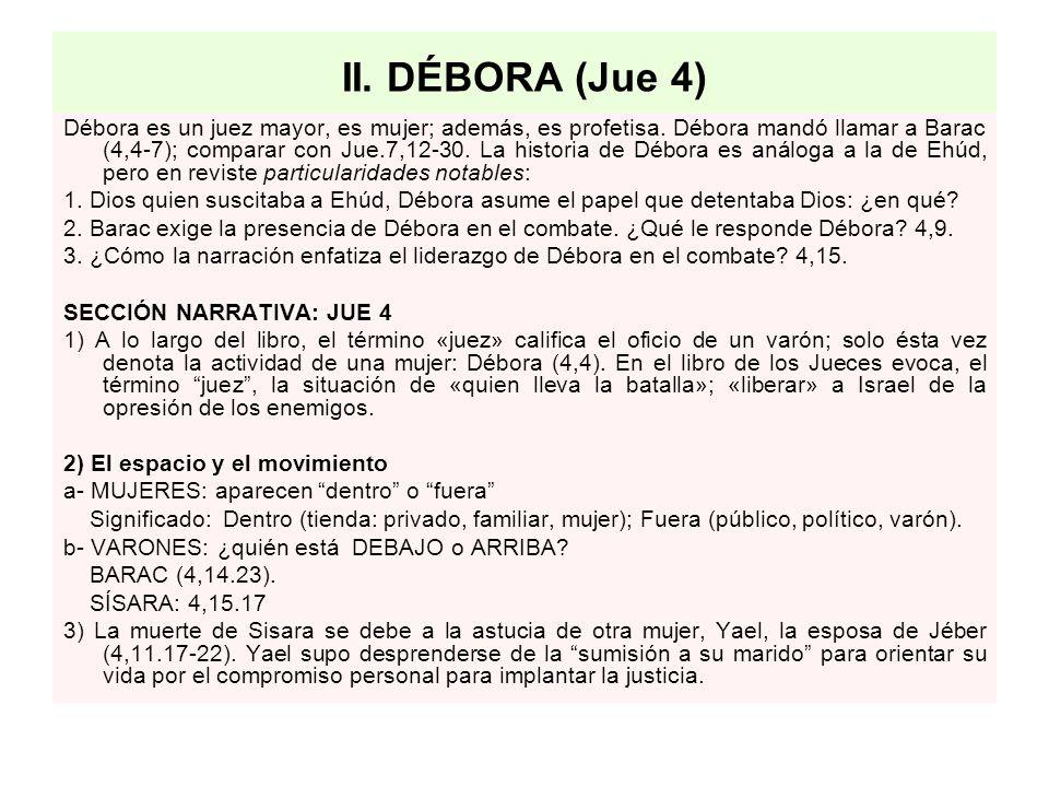 II. DÉBORA (Jue 4)