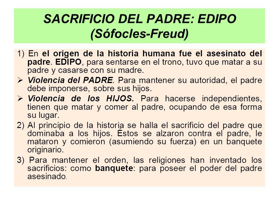 SACRIFICIO DEL PADRE: EDIPO (Sófocles-Freud)