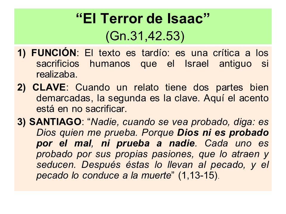 El Terror de Isaac (Gn.31,42.53)
