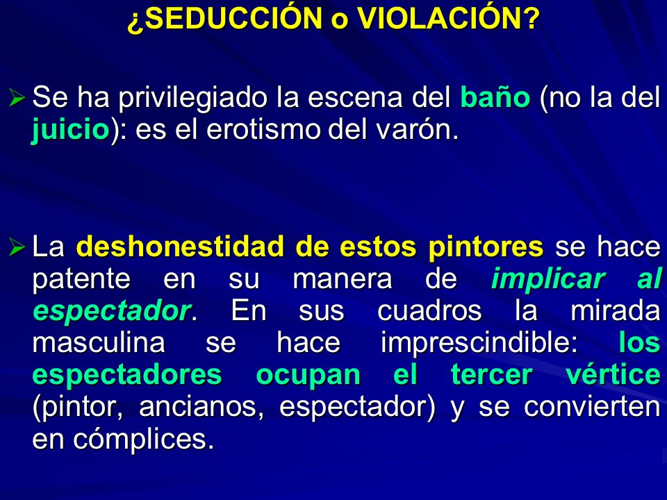 ¿SEDUCCIÓN o VIOLACIÓN