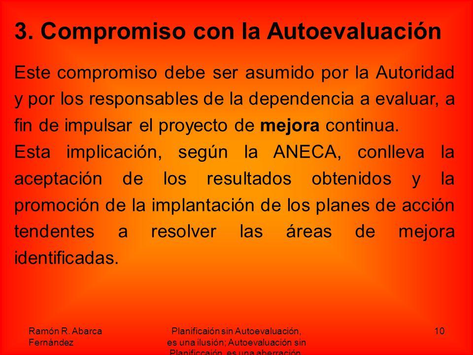 3. Compromiso con la Autoevaluación