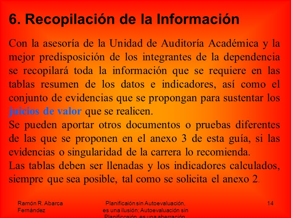6. Recopilación de la Información