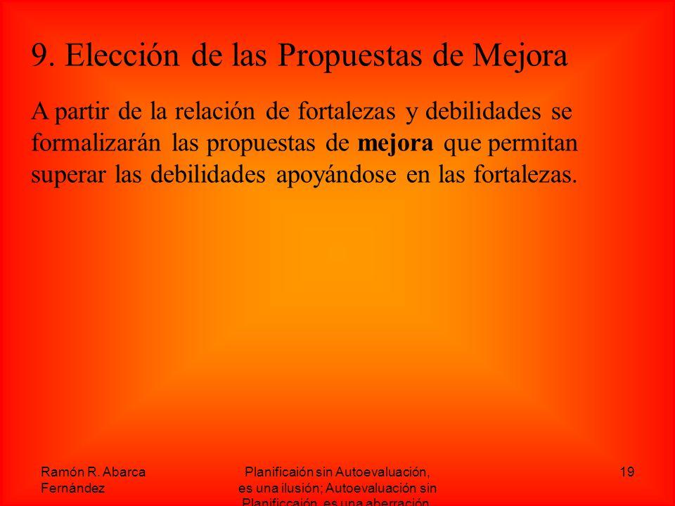 9. Elección de las Propuestas de Mejora