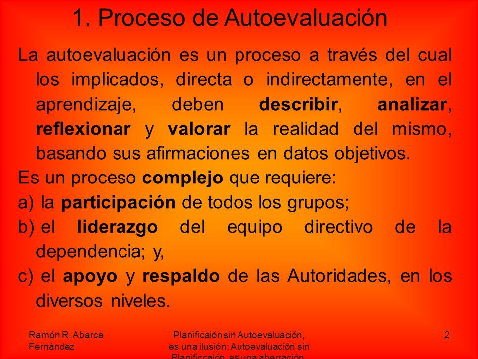 1. Proceso de Autoevaluación