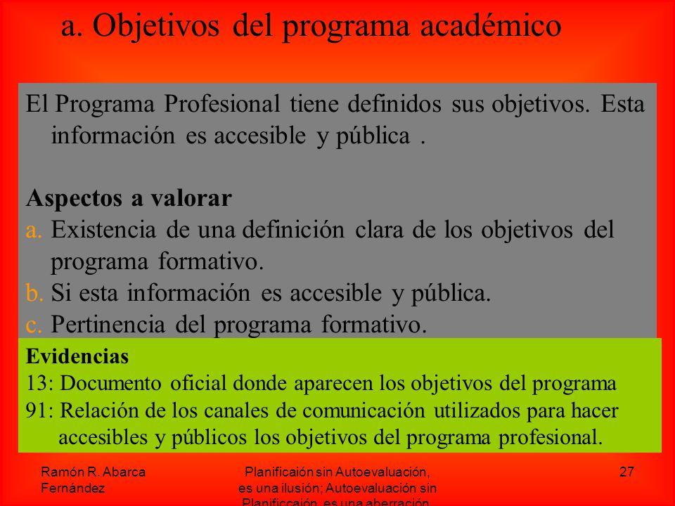 a. Objetivos del programa académico
