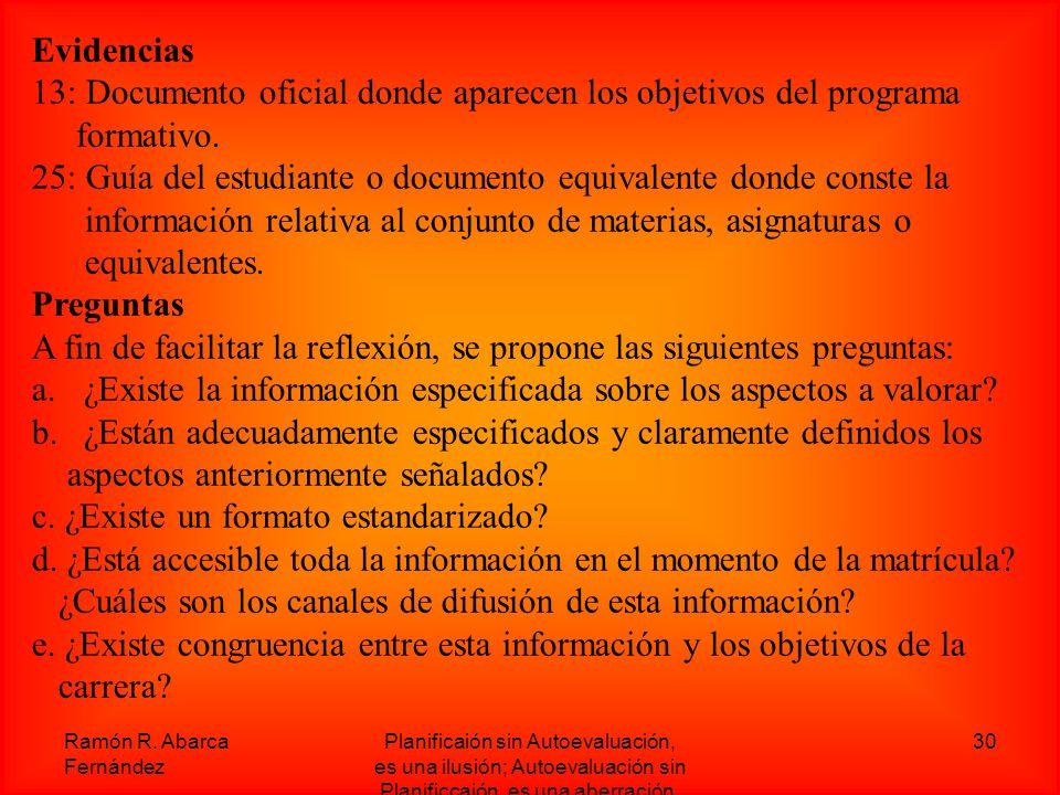 13: Documento oficial donde aparecen los objetivos del programa