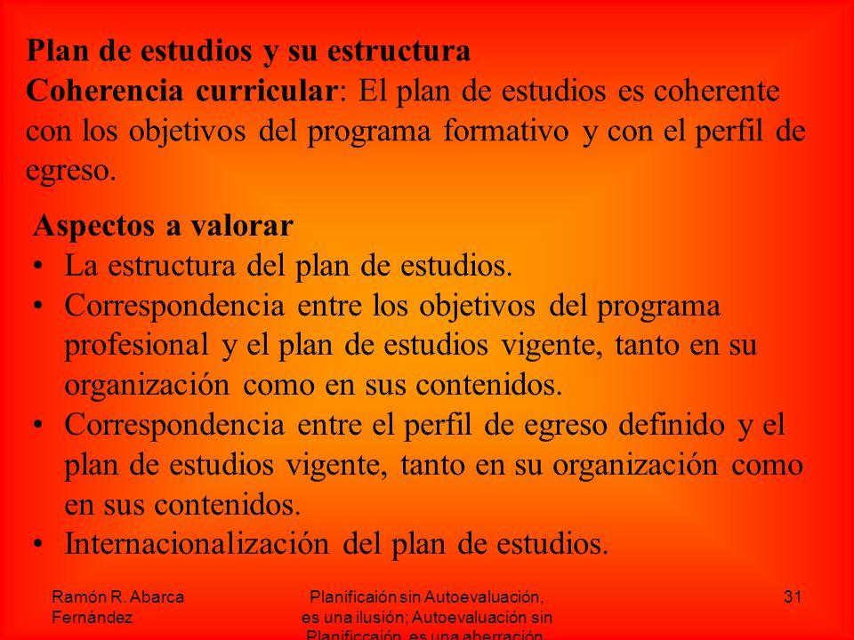 Plan de estudios y su estructura