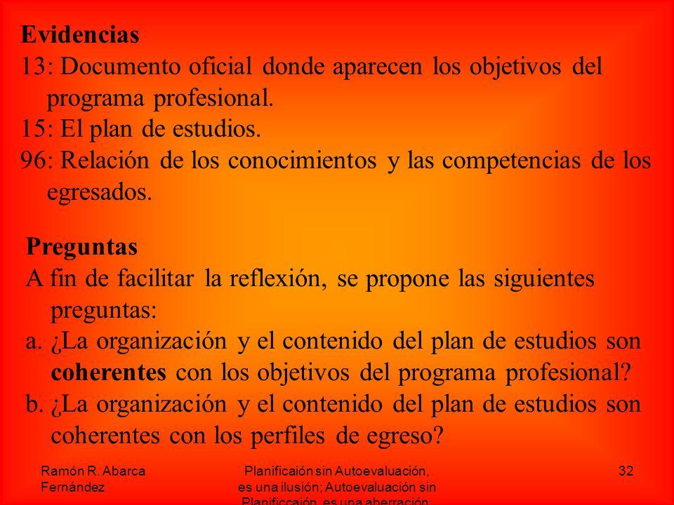 96: Relación de los conocimientos y las competencias de los egresados.