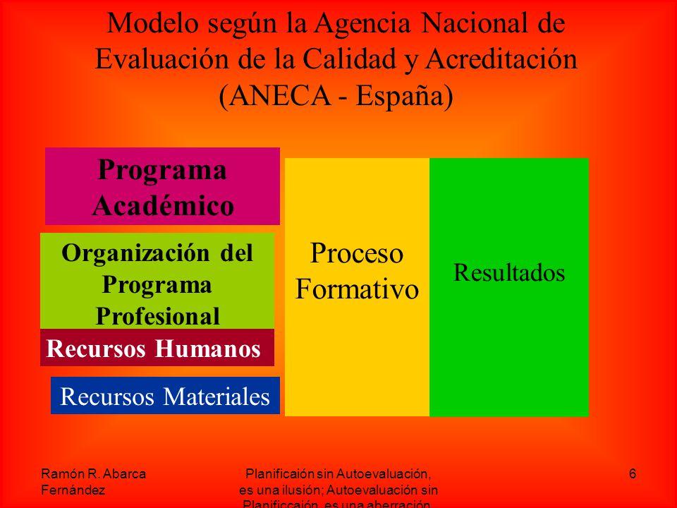 Organización del Programa Profesional
