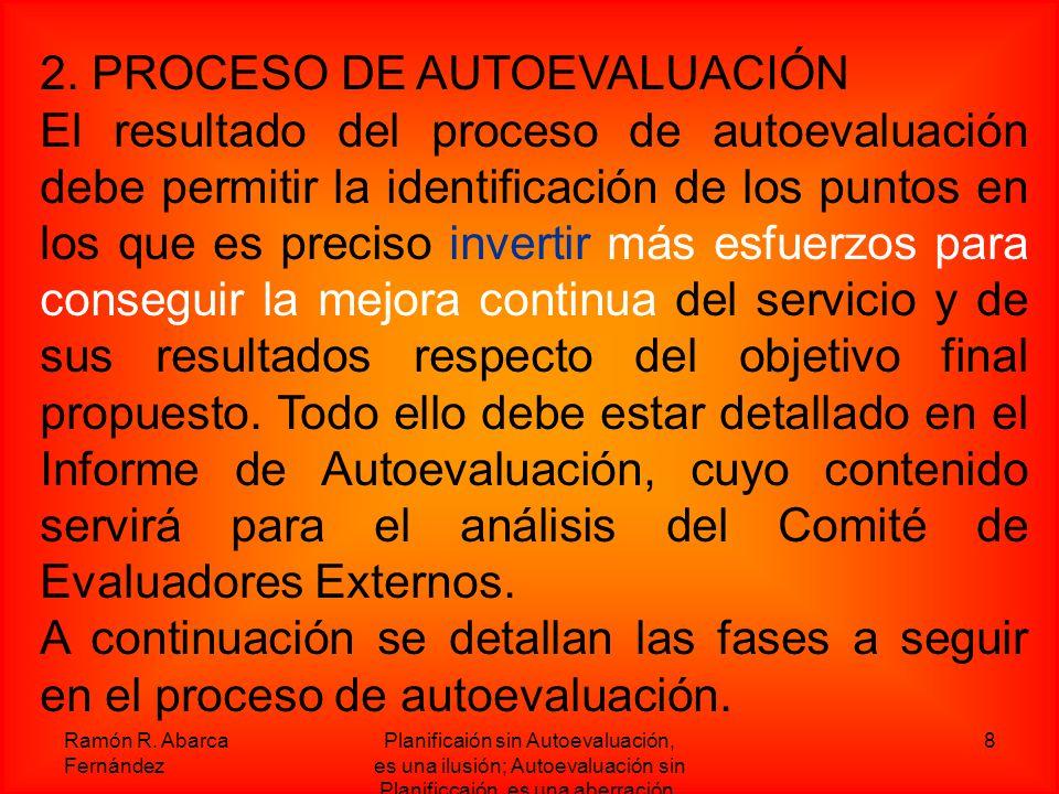 2. PROCESO DE AUTOEVALUACIÓN