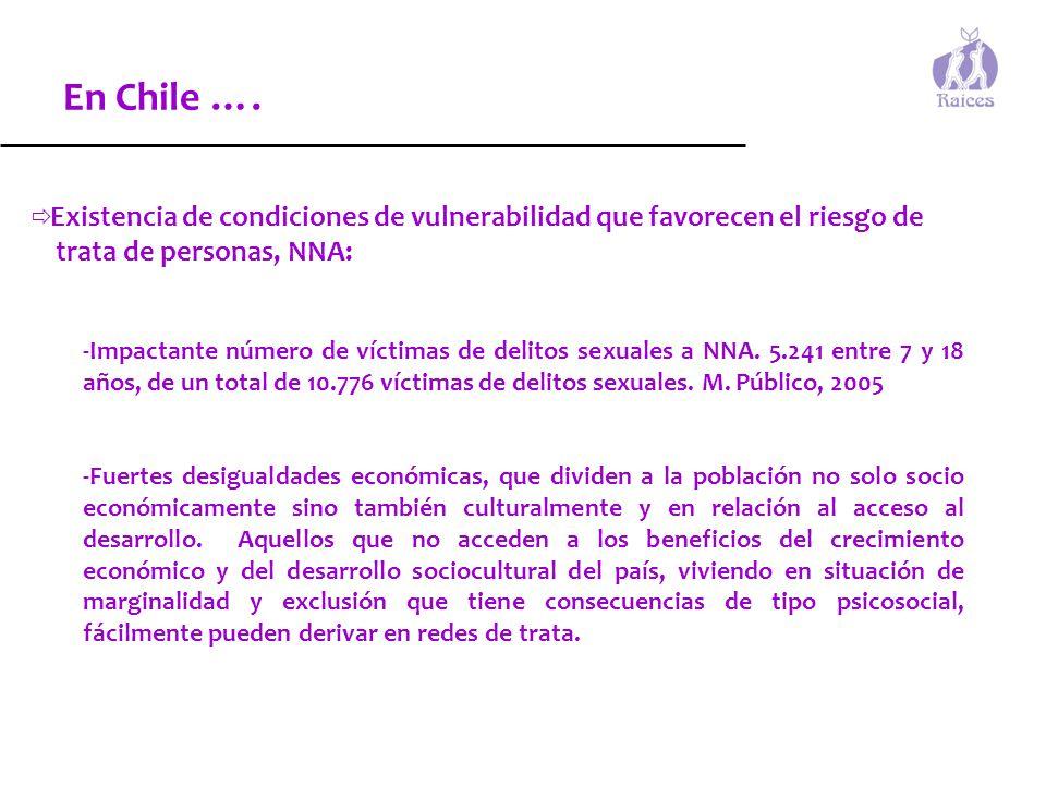 En Chile …. trata de personas, NNA: