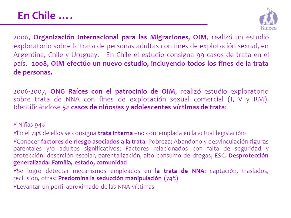 En Chile ….