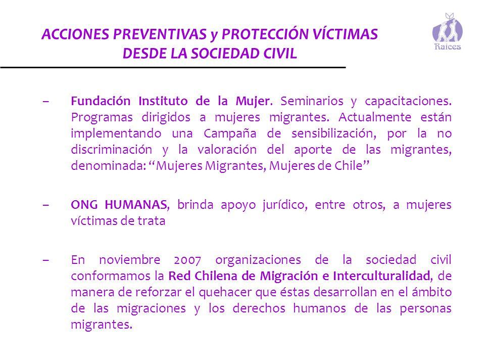ACCIONES PREVENTIVAS y PROTECCIÓN VÍCTIMAS DESDE LA SOCIEDAD CIVIL