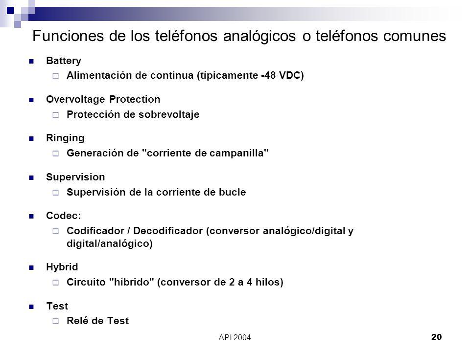 Funciones de los teléfonos analógicos o teléfonos comunes