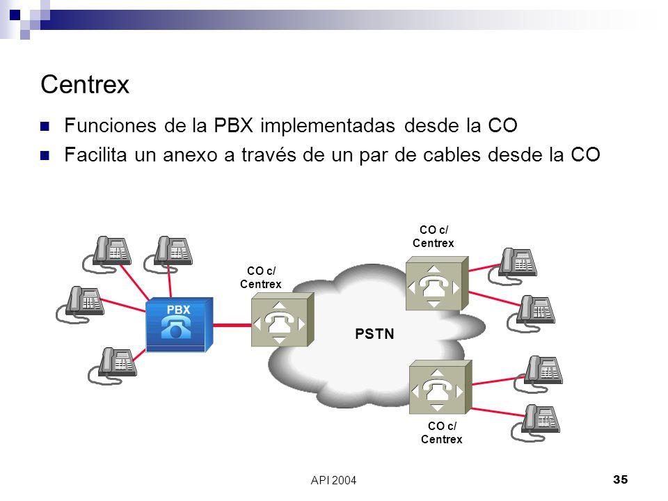 Centrex Funciones de la PBX implementadas desde la CO