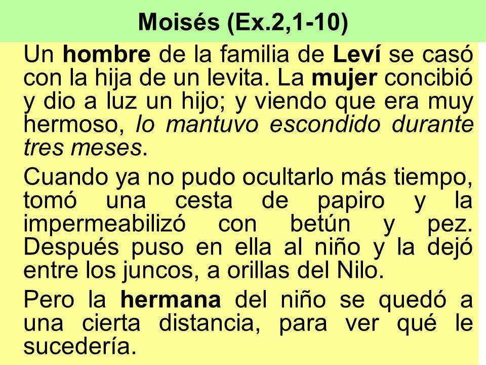 Moisés (Ex.2,1-10)