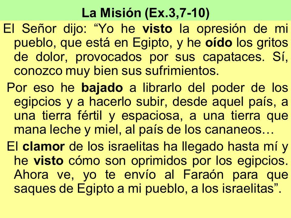 La Misión (Ex.3,7-10)