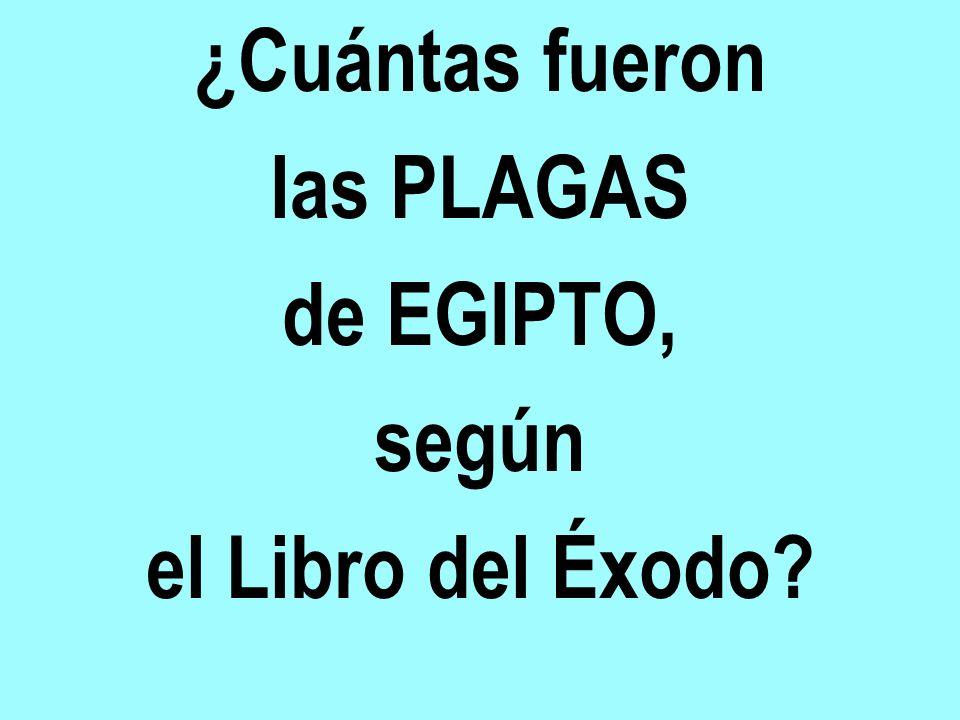 ¿Cuántas fueron las PLAGAS de EGIPTO, según el Libro del Éxodo