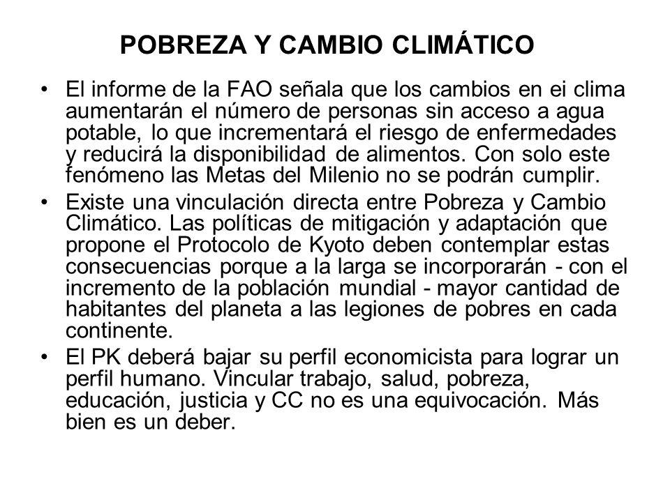 POBREZA Y CAMBIO CLIMÁTICO