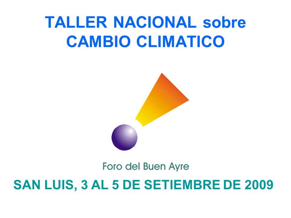 TALLER NACIONAL sobre CAMBIO CLIMATICO