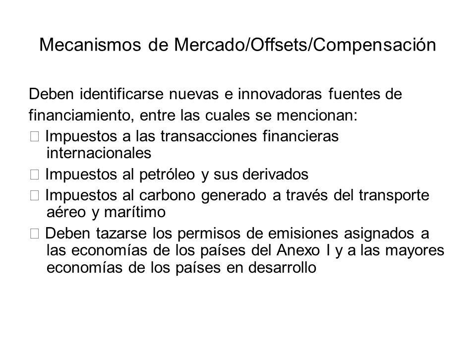 Mecanismos de Mercado/Offsets/Compensación
