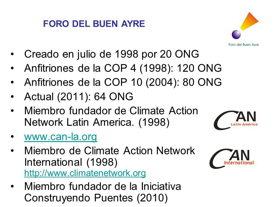 Creado en julio de 1998 por 20 ONG