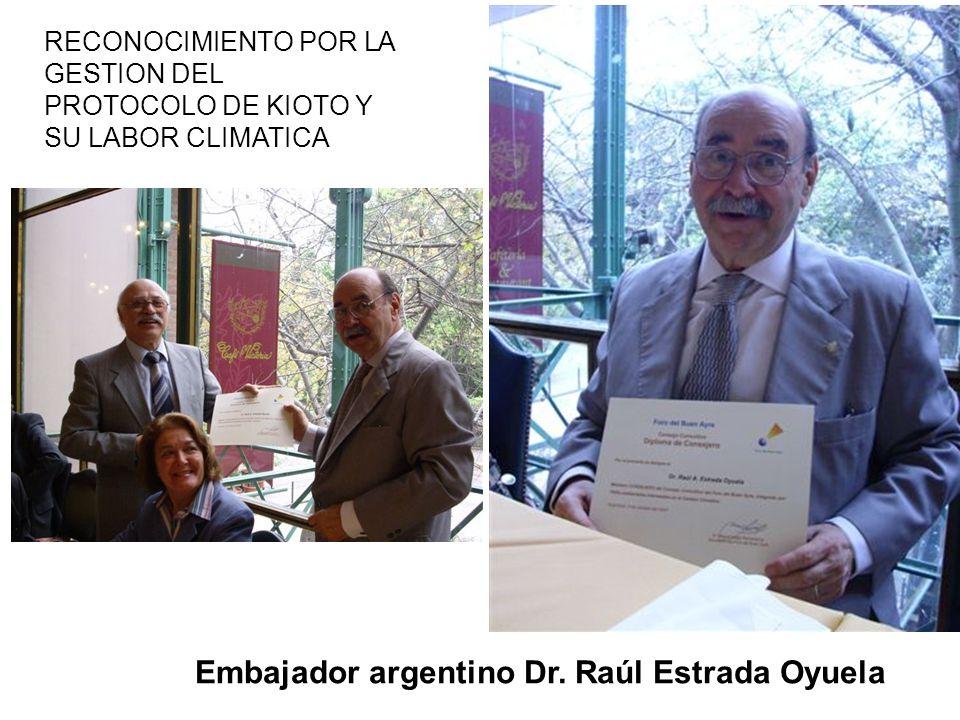 Embajador argentino Dr. Raúl Estrada Oyuela