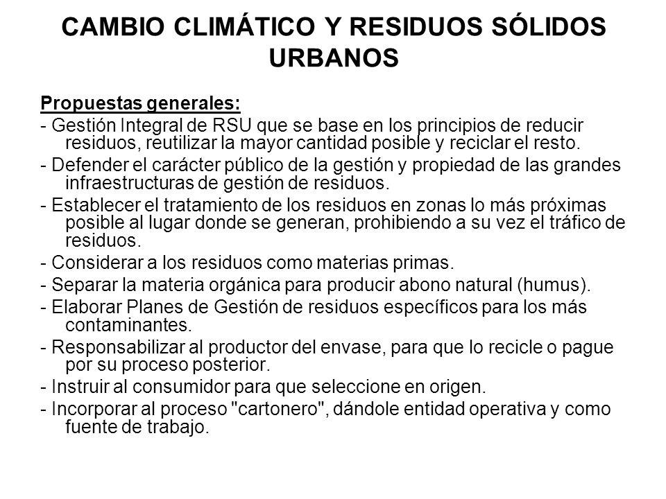 CAMBIO CLIMÁTICO Y RESIDUOS SÓLIDOS URBANOS