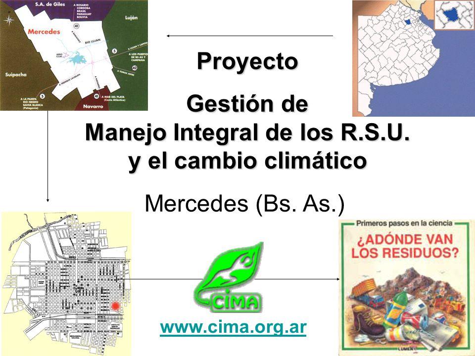 Gestión de Manejo Integral de los R.S.U. y el cambio climático