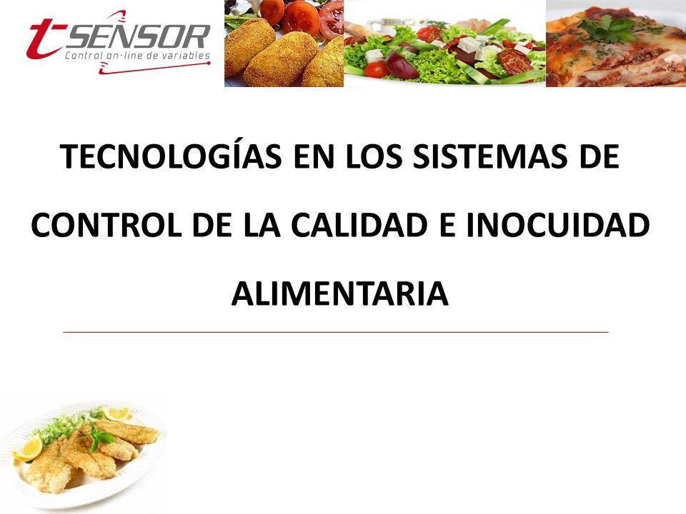 TECNOLOGÍAS EN LOS SISTEMAS DE CONTROL DE LA CALIDAD E INOCUIDAD ALIMENTARIA