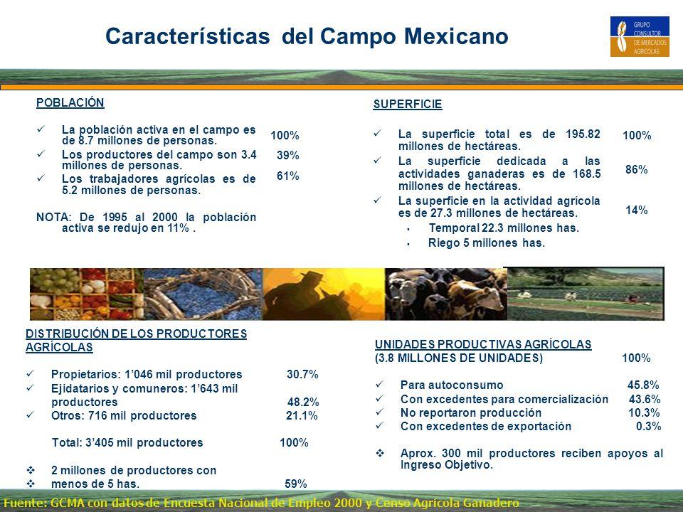 Características del Campo Mexicano
