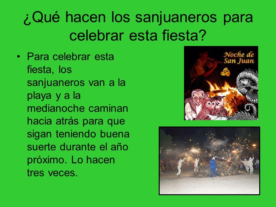 ¿Qué hacen los sanjuaneros para celebrar esta fiesta