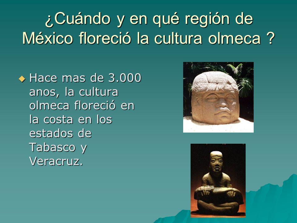 ¿Cuándo y en qué región de México floreció la cultura olmeca