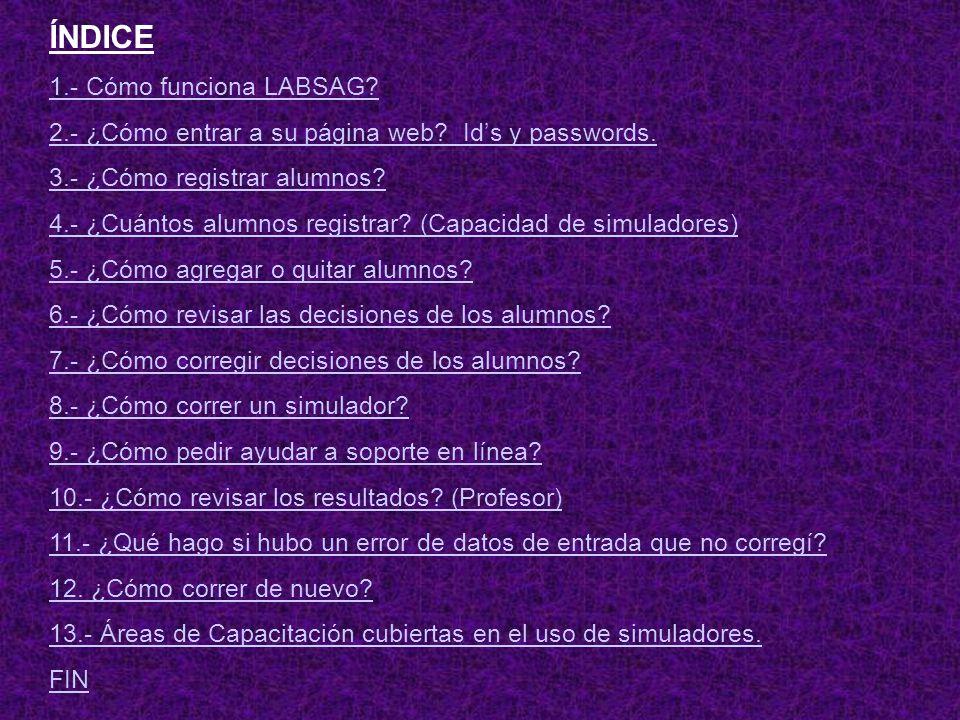 ÍNDICE 1.- Cómo funciona LABSAG