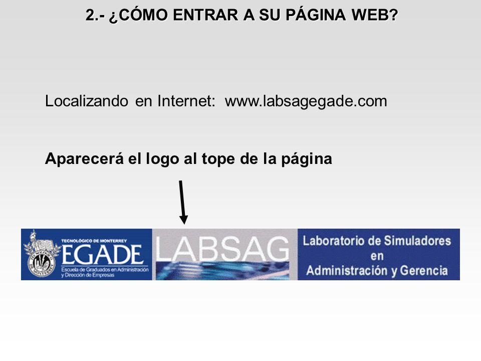 2.- ¿CÓMO ENTRAR A SU PÁGINA WEB