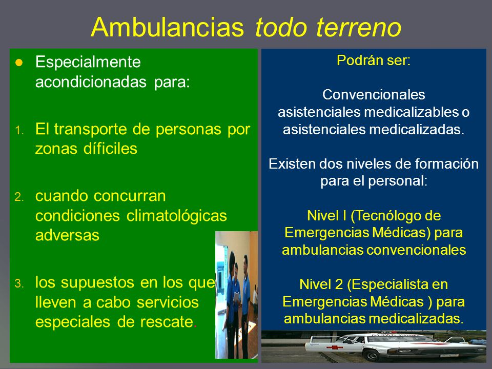 Ambulancias todo terreno