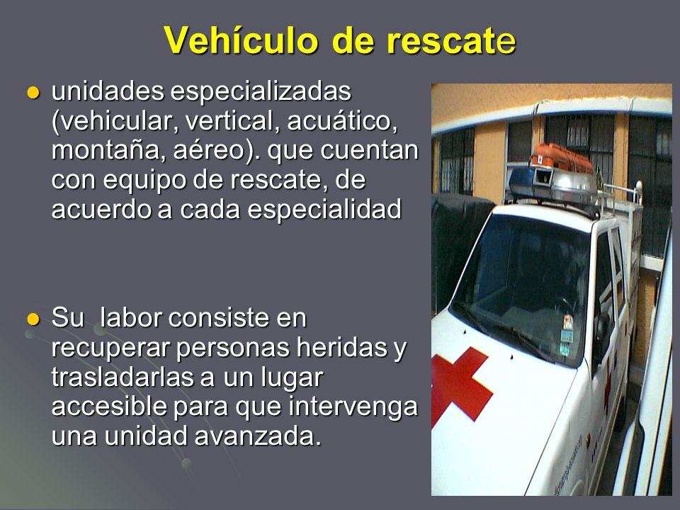 Vehículo de rescate