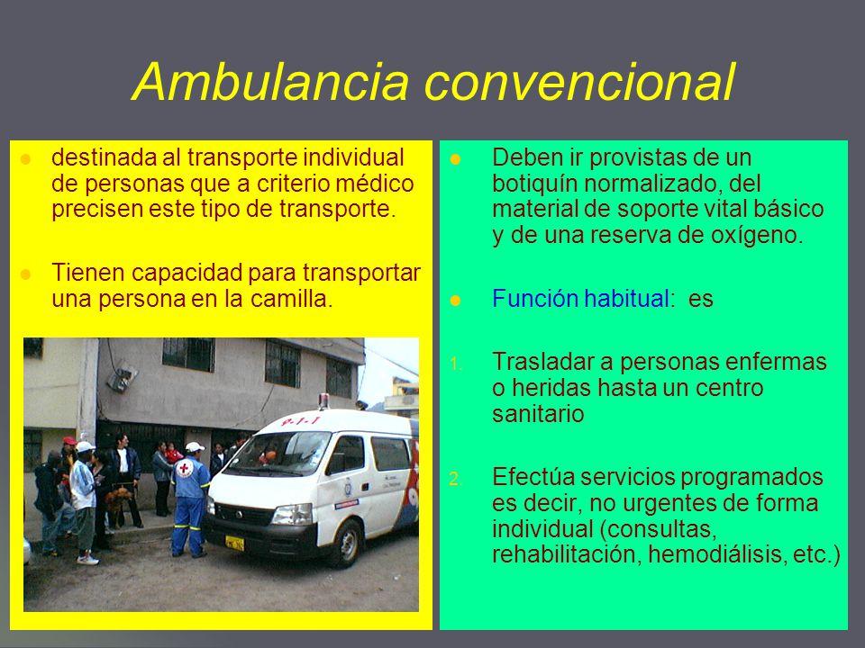 Ambulancia convencional