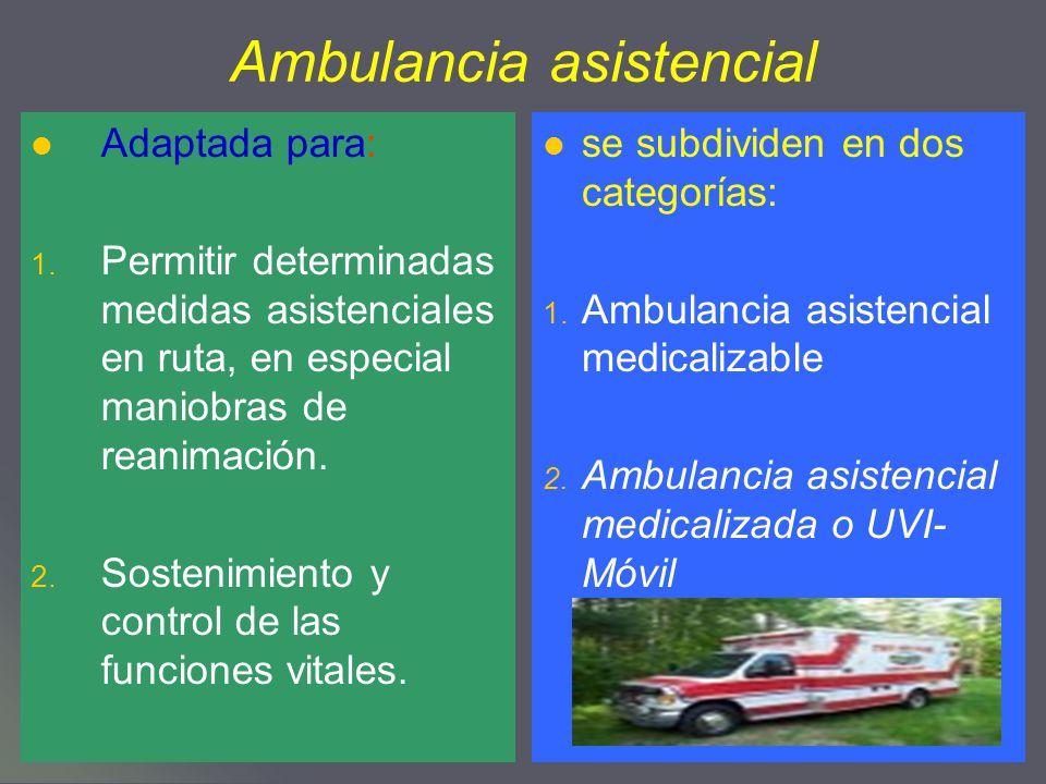 Ambulancia asistencial