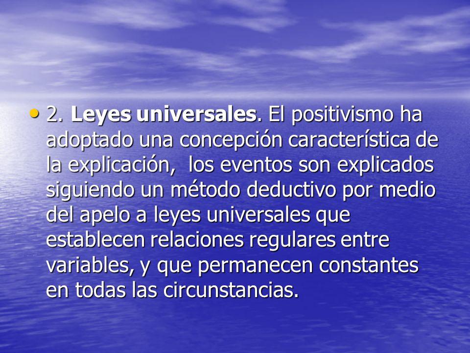 2. Leyes universales.
