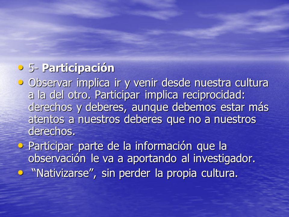5- Participación