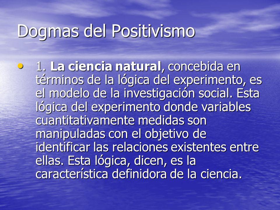 Dogmas del Positivismo