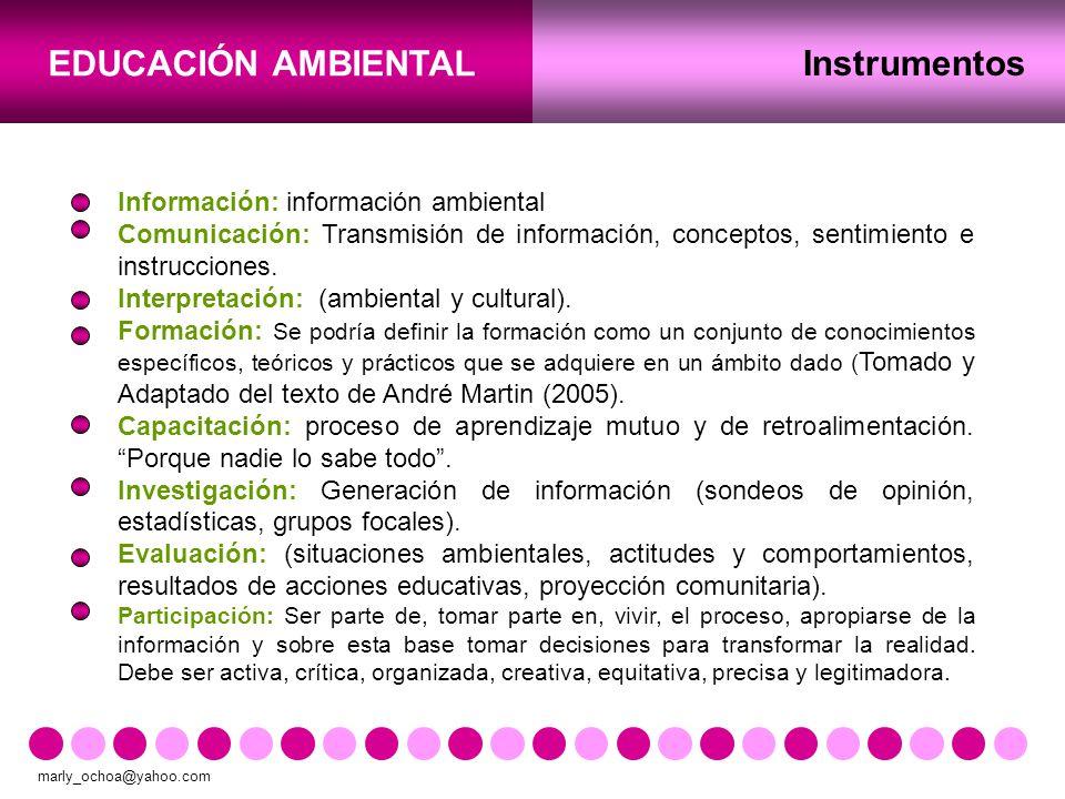 Instrumentos Información: información ambiental