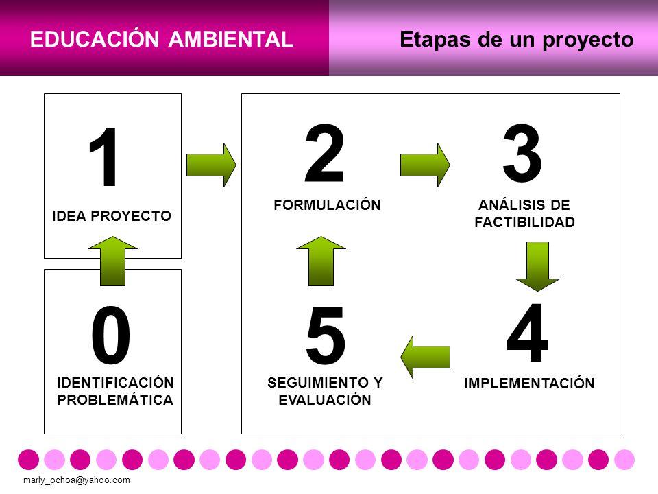 2 3 1 5 4 Etapas de un proyecto FORMULACIÓN ANÁLISIS DE FACTIBILIDAD