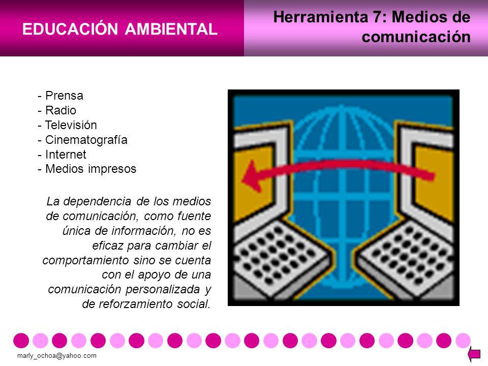 Herramienta 7: Medios de comunicación
