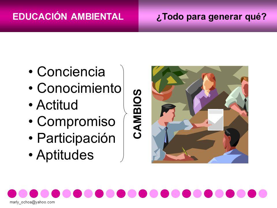 Conciencia Conocimiento Actitud Compromiso Participación Aptitudes