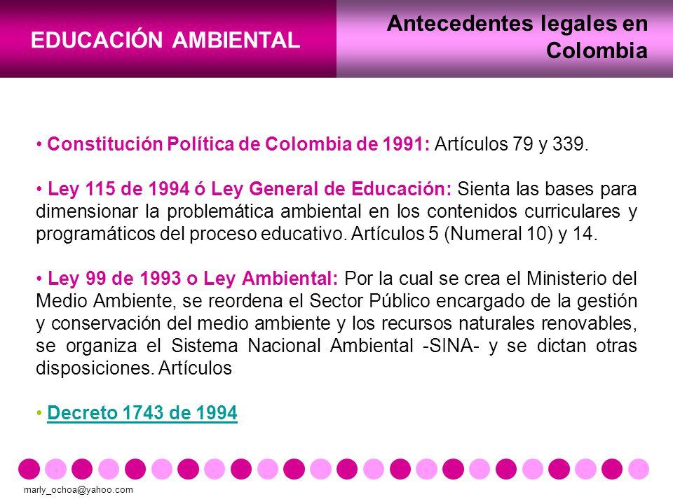 Antecedentes legales en Colombia