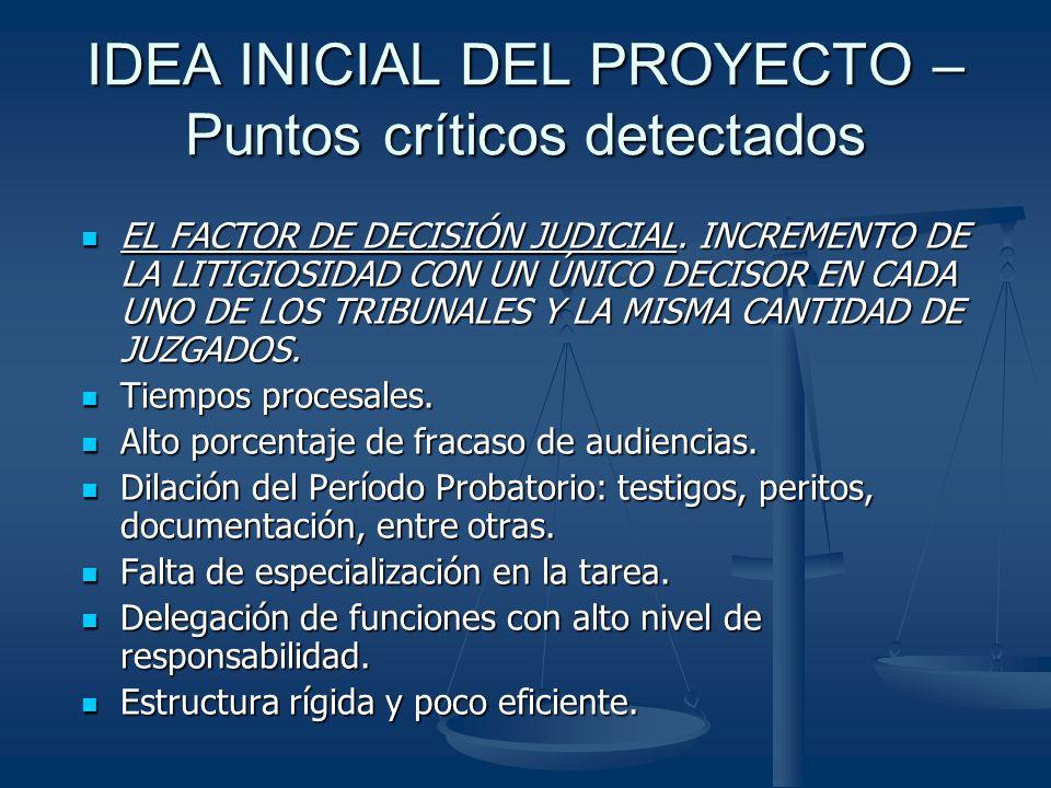 IDEA INICIAL DEL PROYECTO – Puntos críticos detectados